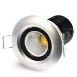 RLFA-x8W-80: 8 Watt COB LED Recessed Light Fixture - Bridgelux COB