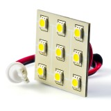 T3.25-PCB-xWHP9: T3.25 LED Bulb - 9 SMD LED PCB