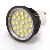GU10-x5W-60: White 5 Watt LED GU10 Bulb